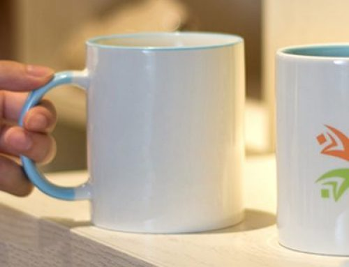 Ceramic cup with your company logo